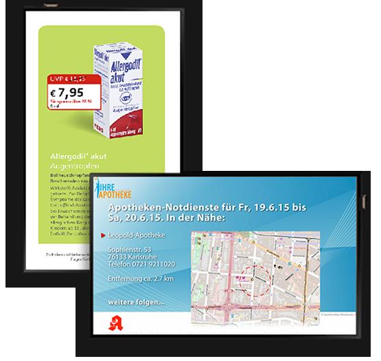 Apothekenangebot-Template und Notdienstanzeige