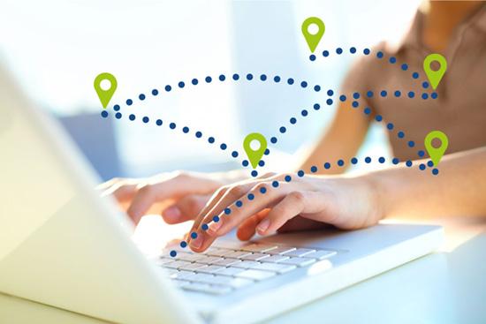 Standortbezogene Content-Zuteilung