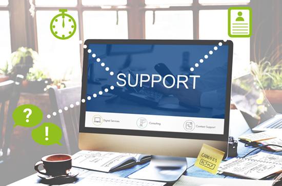 Schneller Kontakt zum Support-Team
