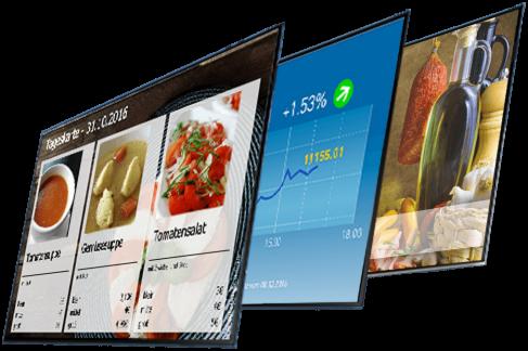 Auswahl Shop-Templates für Gastronomie, Banken und Einzelhandel