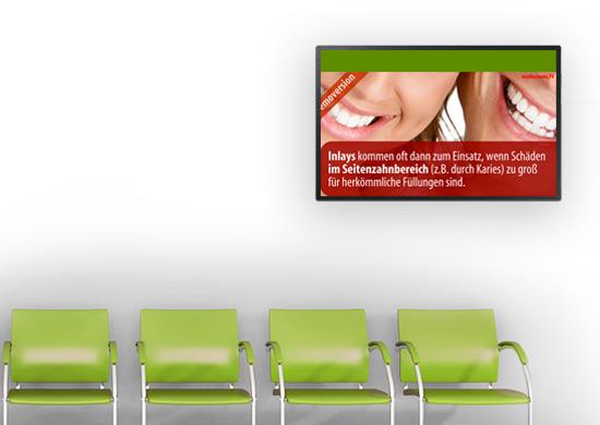 Information und Entertainment im Wartezimmer