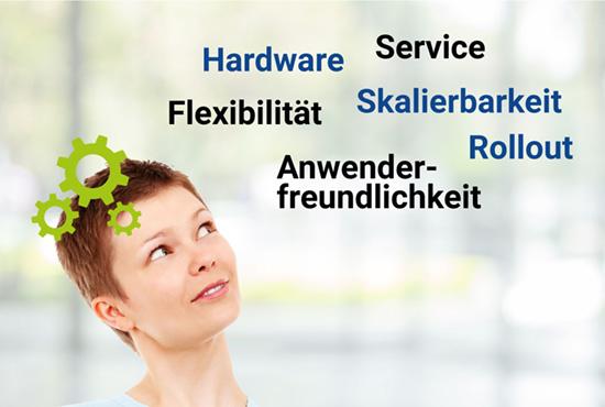 Anwenderfreundlichkeit, Flexibilität, Service