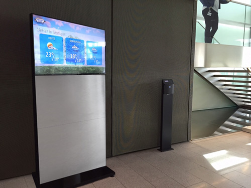 meinMItarbeiterTV Display